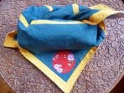 Furoshiki in blau - Die umweltfreundliche Geschenkpapieralternative